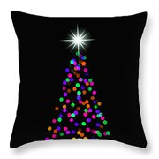 Light Of The World Christmas Card Throw Pillow