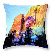 Light On Cliffs Throw Pillow