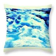 Light On Glacier Throw Pillow