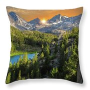 Light On Mack Lake Throw Pillow