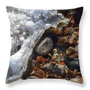 Light On Rocks And Ice  Throw Pillow