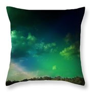 Light On The Forest Throw Pillow