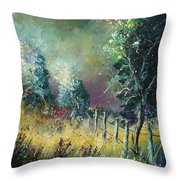 Light On Trees Throw Pillow