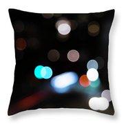 Light Orbs Throw Pillow