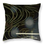 Light Painting Energy Throw Pillow
