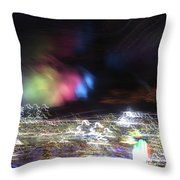 Light Paintings - No 1 - Lightning Squared Throw Pillow