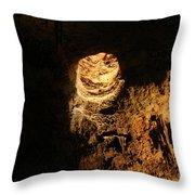 Light Peeks Through - Cave Throw Pillow