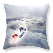 Light Play Angels Descent Throw Pillow by Nikki Marie Smith