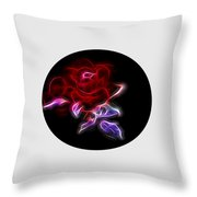Light Play Rose Throw Pillow