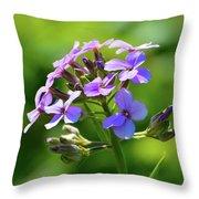 Light Purple Flowers  Throw Pillow