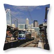 Light Rail In Charlotte Throw Pillow
