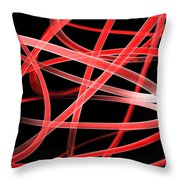 Light Red Throw Pillow
