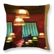 Light Reflection Nyc Canopy  Throw Pillow