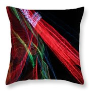 Light Ribbons Throw Pillow