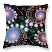 Light Rotate On Spiral Orbit Throw Pillow