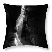 Light Shaft In Lower Antelope Canyon Throw Pillow