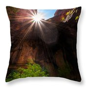 Light Shine Down Throw Pillow