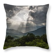 Light Show Before The Storm. Throw Pillow by Itai Minovitz