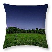 Light Show - Fireflies Vs The Stars Throw Pillow