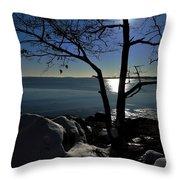 Light Snow And Stillness Throw Pillow