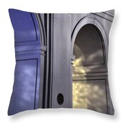 Light Splattered Arches Throw Pillow