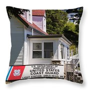 Light Station Owl Head Rockland Maine Throw Pillow