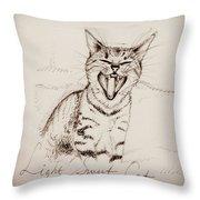 Light Sweet Cat Throw Pillow