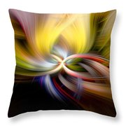 Light Swirl Throw Pillow