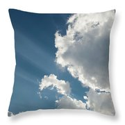 Light Through The Clouds Throw Pillow