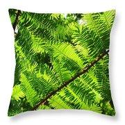Light Through The Green Throw Pillow