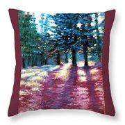 Light Through The Pines Throw Pillow
