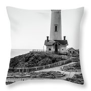 Light Tower Of The Pacific Throw Pillow