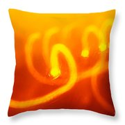 Light Trail Abstract Throw Pillow