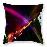Light Travels Throw Pillow