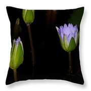 Light Violet Lilies Throw Pillow