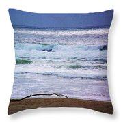 Light Waves To Sand Throw Pillow