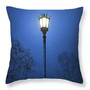 Light Winter Blue Throw Pillow