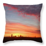 Lighted Clouds Throw Pillow