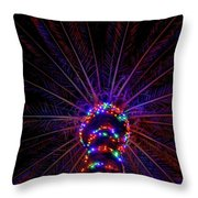 Lighted Palm Throw Pillow