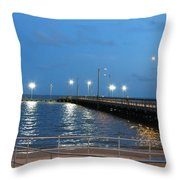 Lighted Pier Throw Pillow
