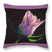 Lighted Rose Throw Pillow