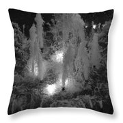 Lighted Star Fountian Throw Pillow