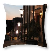 Lighted Walkway Throw Pillow
