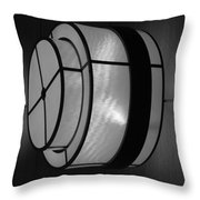 Lighted Wall In Black And White Throw Pillow