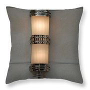 Lighted Wall Sconce Throw Pillow