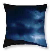 Lightening Cache Valley Utah Throw Pillow