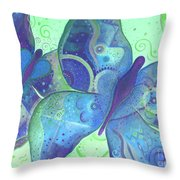 Lighthearted In Blue Throw Pillow