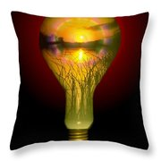 Lighthearted Sunset Throw Pillow