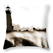 Lighthouse 3 Dreamy Throw Pillow