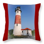 Lighthouse And Entry Throw Pillow